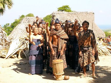 Welcome ceremony performed by the people of the village of Pedero, Mesara