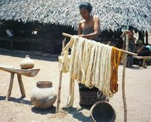 Preparing cotton threads for dye process